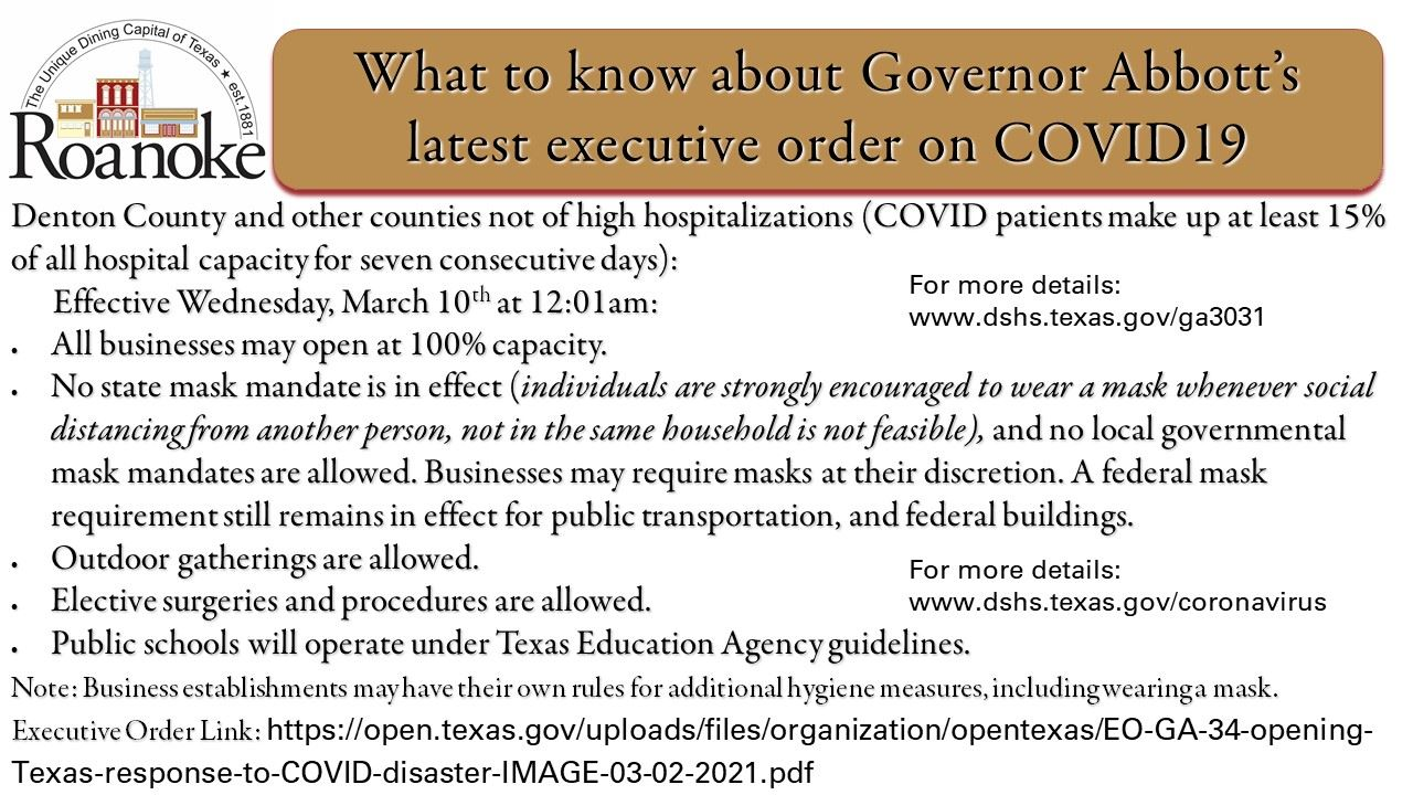 Governor Abbott's March Exec Order