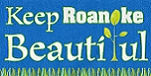 Keep Roanoke Beautiful logo with grass and plant design